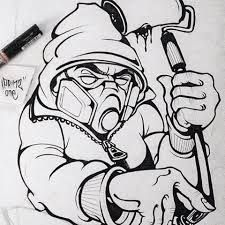 Easy Graffiti Character Drawings