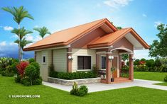 Modern House Design 851813717005841307 - This small and simple house design has two bedrooms and one common toilet and bath. It is a one storey house and is suitable for a small family. Modern Bungalow House Plans, Bungalow Haus Design, Simple House Plans, My House Plans, Simple House Design, Cottage Design, Modern House Design, Bungalow Designs, Single Storey House Plans