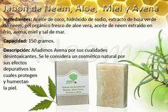 Jabón de Neem, Aloe, Miel y Avena