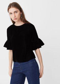 Velvet blouse   MANGO