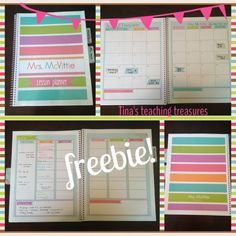 Freebie! Lesson planner ~limited time only! And- a giveaway!