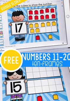 Ten Frame Activities, Kindergarten Math Activities, Preschool Math, Math Classroom, Learning Activities, Learning Time, Numbers Kindergarten, Math Math, Google Classroom