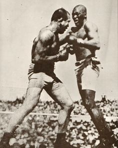 Jack Johnson vs. Jim Jeffries  July 4, 1910. World Heavyweight Championship won by Johnson KO 15th round
