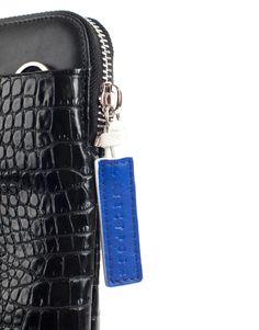 White Schwarz Weiß FOSSIL Logan RFID Zip Around Clutch Geldbörse Black