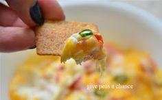 Pepperoni Cheese Dip- easy, fast, and yummy. from Give Peas A Chance