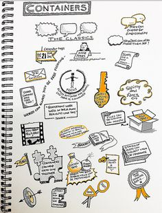 Containers - balloons, bubbles, signs, banners, etc Visual Thinking, Design Thinking, Deep Drawing, Visual Note Taking, Note Doodles, Visual Learning, Sketch Notes, Pen And Paper, Grafik Design
