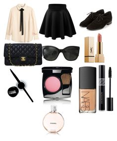 """""""Sem título #191"""" by toniagostini on Polyvore featuring moda, H&M, Chanel, Maybelline e NARS Cosmetics"""