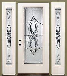 "Mastercraft Kenton 36"" x 80"" Steel Ext. Door with 14"" Sidelites - RH at Menards"