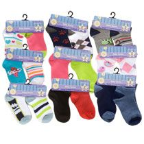 Bulk Colorful Baby Socks, 2-ct. Packs at DollarTree.com - for the fishing game