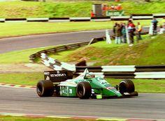 "Teodorico ""Teo"" Fabi (ITA) (Benetton Formula Ltd.), Benetton B186 - BMW M12/13 1.5 L4 (t/c)1986 Great Britain Tyre Test, Brands Hatch"