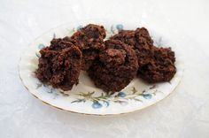 gluten free brownie cookies/paleo [reduced honey to 1/8 c, dark chocolate chips to 1/4 c]