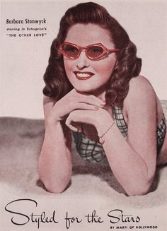Barbara Stanwyck for Marti of Hollywood