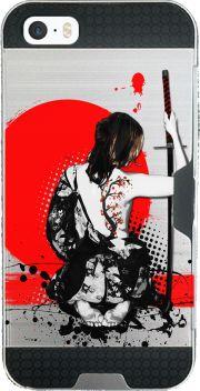 coque Iphone SE armor Trash Polka - Female Samurai