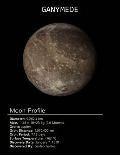 Jupiter's (and the solar system's) largest moon Ganymede