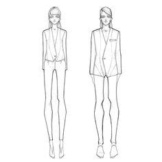 Fashion illustration - fashion design sketches // Milan Zejak