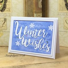 STAMP AND SENTIMENT CHRISTMAS - Winter Wishes - 310516g