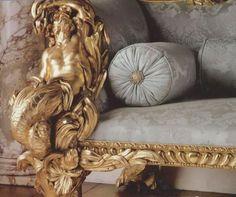 Antique Sofa ( gold detail )