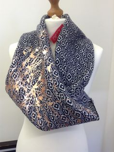 Celtic Spiral infinity scarf with Bronze detail from Brittany collection A/W 2013