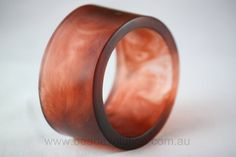 Chunky Organic Resin Cuff in Autumn Brown by Beadevolution on Etsy