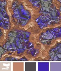 mineral tones - very slightly more light magenta in purple, making it a little less saturated than this purple shade