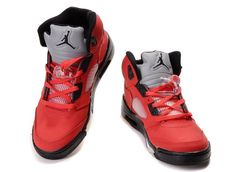 nike air jordan 5 raging bull varsity redwhiteblack sneakers p 2540 Jordan 1, Nike Air Jordan 5, Air Jordan 5 Retro, Air Jordan Shoes, Nike Air Max, Black Sneakers, Air Max Sneakers, Sneakers Nike, Nike Factory Outlet