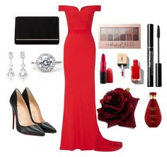 """Valentine's Day with House of Treasure"" by durtedenise ❤ liked on Polyvore featuring Alexander McQueen, Christian Louboutin, Dune, Maybelline and MAC Cosmetics"