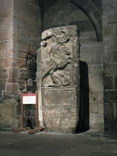 2. Tombstone of Flavinus, Roman Standard Bearer, Hexham Abbey. The standard Flavinus carries may have been surmounted by an eagle. The main part is a radiate head, probably of the Emperor, and strictly speaking Flavinus seems to be carrying an IMAGO rather than the regimental SIGNUM.