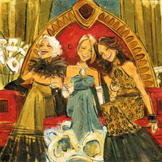 "Kathy Womack ""Women and Wine"" series celebrates female friendship."