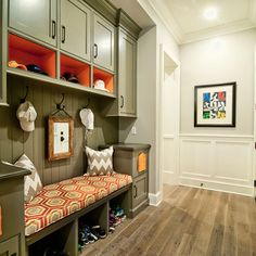 Basement entry? Will keep this idea in mind..love all the storage!