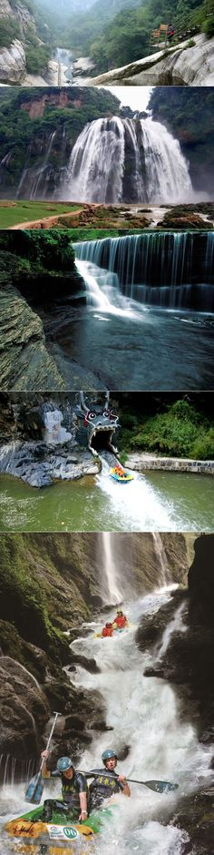 """Located in Miyun County, the """"Top Waterfall in Beijing"""" has a 62.5m drop which is magnificent & breathtaking for your scenic crave. #Beijing #China"""