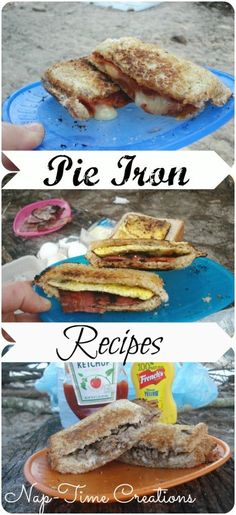 Cheeseburger Pie, Pizza Pie, and Egg Sandwich Pie Best Pie Iron Recipes.Cheeseburger Pie, Pizza Pie, and Egg Sandwich Pie Cheeseburger Pie, Cheese Burger, Camping Meals, Camping Hacks, Camping Recipes, Camping Cooking, Family Camping, Camping Stuff, Backpacking Meals