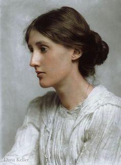 Virginia Woolf, 1902 (colorized by Dana Keller)