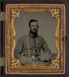 (c. 1861-1865) Captain David Thompson of Caldwell Minute Men (later Caldwell Light Infantry); Company D, 1st Infantry Regiment 4th Division Missouri State Guard; and Company H, 2nd Missouri Infantry Regiment.
