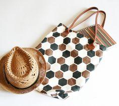 Cotton Tote Bag,Shopping Bag, Brown Cotton Tote from Eva Karo by DaWanda.com