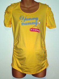Fun Yellow Maternity Top - Size 14 - Mothers R Us