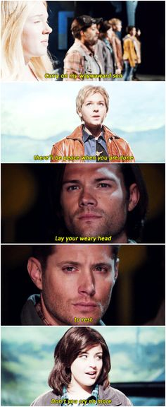 [gifset] Tears...so many tears. And those shots of Jared and Jensen's closeups? Probably my favorite out of the entire episode.