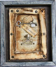 "altered book art by artist Dawn-Marie. Fb page www. Facebook.com/artistictatteredfeather the ""Sophisticated Junkie"""
