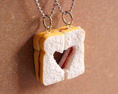 Avocado BFF Necklace Miniature Food Jewelry Polymer by miniJon