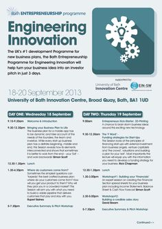 leaflet design on behalf of Bath Entrepreneurship programme - Engineering Innovation seminar by www.lunatrix.co.uk #engineeringseminar #newbusiness #leafletdesign