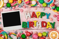 Birthday Backdrops Printed Backdrop Wood Backgrounds J02186-E