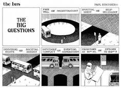 'The Twilight Zone' meets M. Escher meets Dali in the philosophical comic strip 'the bus' Heavy Metal, Cosmic Comics, Dangerous Minds, Metal Magazine, Meme Comics, Let's Have Fun, Animation, Note Paper, Graphic Design Typography