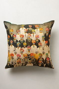 Maharaja Men Pillow  #anthropologie  I love this thing.  Totally want it in my house.