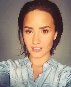 20 Chic Celebrity Short Hairstyles: #9. Demi Lovato Slicked-Back Pixie