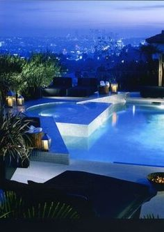 Hollywood hills home - overlooking dtla view - infinity pool - modern architecture - pool/hot tub