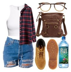 """""""overdose"""" by madisonpiper ❤ liked on Polyvore featuring H&M, Timberland, Charlotte Russe and Garrett Leight"""