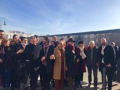 Ante muro de Berlín, Diego Luna critica política de Trump - Noticias MVS