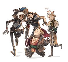 Dragon Age II || Anders has cats! Oh, and there are other characters in the drawing, I guess... BUT ANDERS HAS CATS.