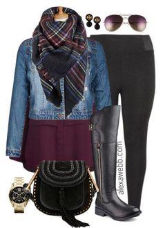 Plus Size Fashion - Plus Size Outfit Idea - Alexa Webb - Plus Size Leggings Outfit - alexawebb.com #alexawebb