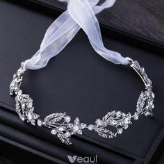 Chic / Beautiful Silver Metal Accessories 2018 Rhinestone Lace-up Headpieces Wedding Tiara Veil, Wedding Tiaras, Bridal Earrings, Bridal Jewelry, Royal Jewels, Bridal Hair Accessories, Cute Jewelry, 30, Crystal Rhinestone