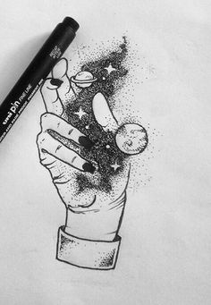 Cute Drawings, Drawing Sketches, Drawing Ideas, Space Drawings, Drawings In Pen, Minimal Drawings, Tattoo Drawings, Pinterest Arte, Pen Art